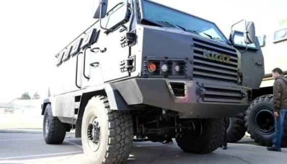 КрАЗ показав свою новітню розробку – броньований автомобіль з антимінним захистом