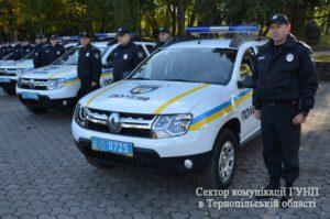 Поліцейські отримали нові автівки (Фото)