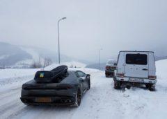 """""""Картина маслом"""": дрифт Lamborghini на гірськолижній трасі в Буковелі (Відео)"""
