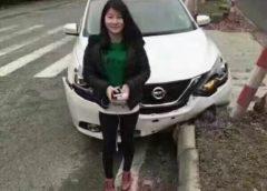 Рекорд: Дівчина розбила нову машину через 9 хвилин після покупки (Фото)