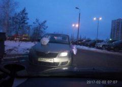 """Кияни перетворили авто """"героя парковки"""" на смітник (Фото)"""
