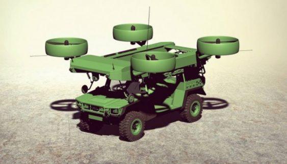 В Україні презентували концепт бронемашини, що літає (Фото)