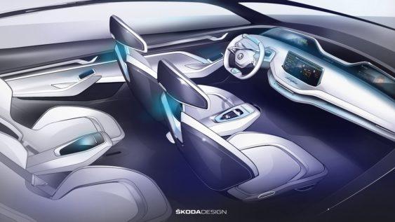 Skoda показала інтер'єр першого електричного кросовера