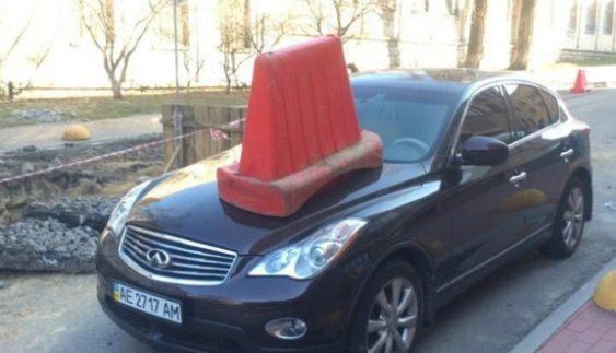 """У Києві покарали """"автохама"""" на елітному авто (Фото)"""