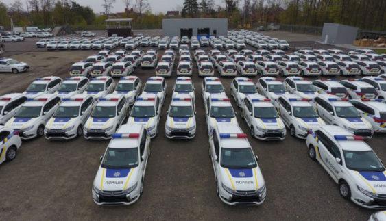 В Україну прибула перша партія поліцейських Mitsubishi Outlander PHEV (Фото)