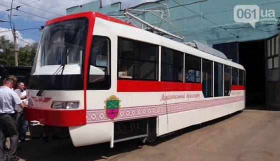 «Запоріжелектротранс» випустив перший трамвай власного виробництва (Фото)