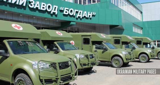 «Богдан» передав Збройним Силам партію санітарних машин Богдан 2251 (Фото)