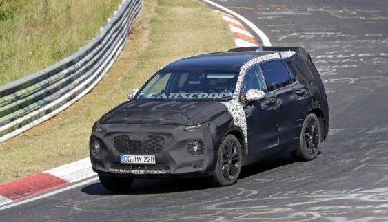 Нову генерацію Hyundai Santa Fe помітили на тестах