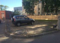 Майстер паркуватися на газоні не очікував поганого результату (Фото)