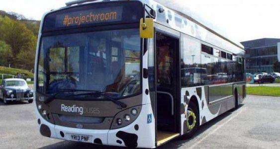 Автобус, який їздить на коров'ячому гної, побив рекорд швидкості