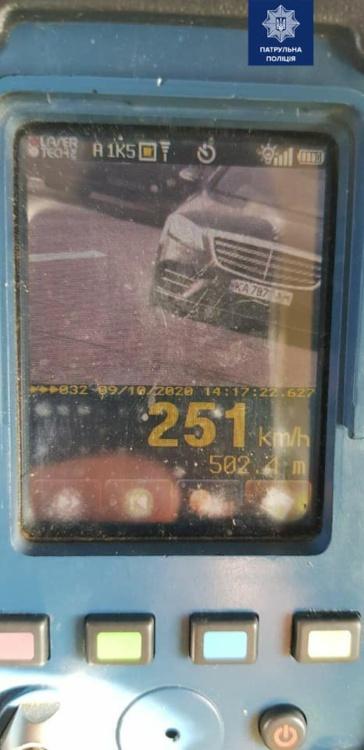 В Украине установили скоростной рекорд этого года: нарушитель разогнался до 251 км/ч (ФОТО)